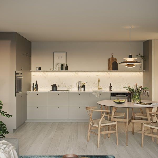 Klinken liten kjøkken